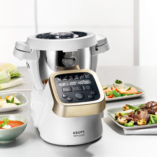 Krups Prep & Cook (Beinah) die ganze Küche in einem genialen Gerät. Zerkleinert, mixt, rührt, knetet, mahlt, … fast von alleine.