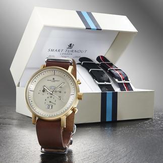 """Smart Turnout Herren-Armbanduhr """"Style-Change"""" Eine Uhr - 3 verschiedene Looks. Perfekt passend für jeden Anlass und jedes Outfit."""