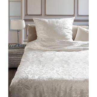 Bettwäsche aus Seide, 2-tlg. Verwöhnender Luxus: Bettwäsche aus kostbarem, rein seidenem Jacquard.