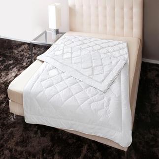 Kaschmir Vier-Jahreszeiten-Steppbett Für perfektes Wohlfühlklima in kühlen und heißen Nächten. Gefüllt mit kostbarem Kaschmir.