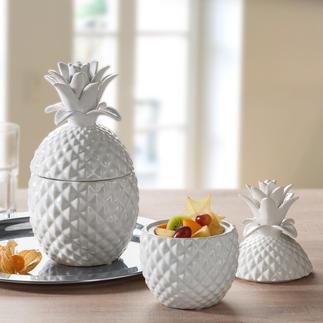 Keramik-Ananas Trend-Thema Tropen-Früchte. Stilvoll umgesetzt.