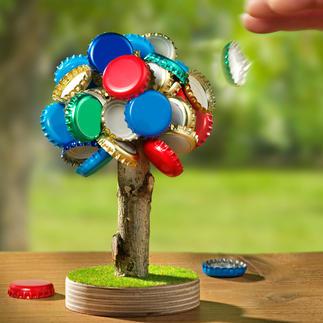 Bierbaum-Kronkorkenhalter Lästiges Aufsammeln entfällt: Der magnetische Bierbaum fasst bis zu 60 Kronkorken.