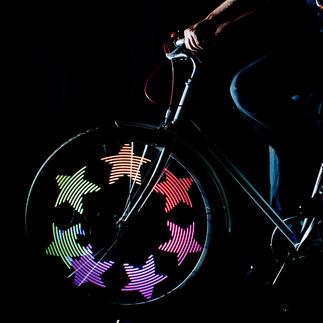 MonkeyLectric® LED-Speichenlicht Animierte Lichtkunst aus 32 Farb-LEDs macht Ihr Fahrrad unübersehbar.