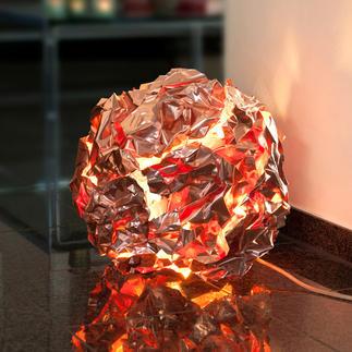 Meteorit-Leuchte Raffiniertes Kupfer-Design, faszinierend wie ein Lavaball. Stets ein Unikat.