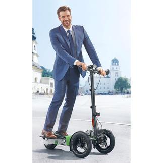 Scuddy Sport Cooles Lifestyle-Vergnügen: der faltbare Elektro-Scooter auf 3 Rädern. In Handarbeit gefertigt.
