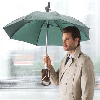 Sitzstock-Regenschirm Drei in einem: Regenschirm, eleganter Spazierstock – und komfortabler Sitzplatz.