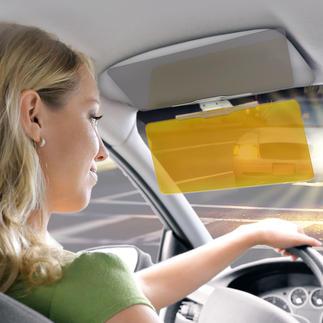 VizClear HD® Blendschutz Der sichere 2fach-Blendschutz. Einfach abklappen – und Sie sehen detailscharf, kontrastreich, klar.