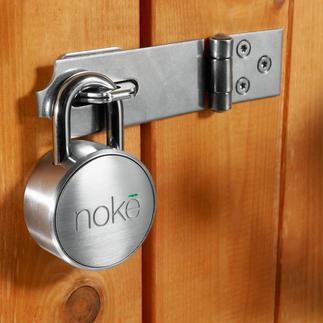 Bluetooth Vorhängeschloss Nokē Kein Schlüssel. Kein Zahlencode. Einfach per Bluetooth mit Ihrem Smartphone zu entriegeln.