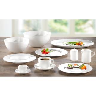 """Bone China Geschirr """"À-Table"""" Decken Sie Ihren Tisch mit dem Porzellan der SWISS Air First Class."""