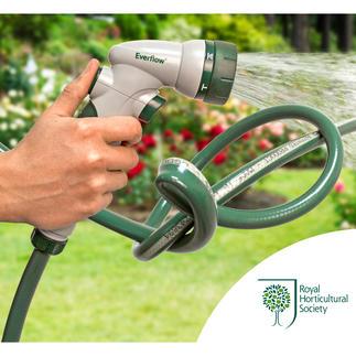 Everflow®-Gartenschlauch Dieser Gartenschlauch macht Schluss mit lästigem Wasserstau.
