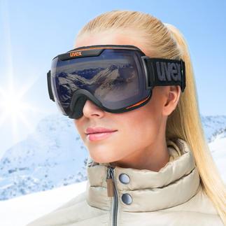 Uvex Variomatic®-Polavision®-Skibrille Automatische Tönung plus effektiver Blendschutz. Die Skibrille mit 2 Hightech-Technologien in einer Scheibe.