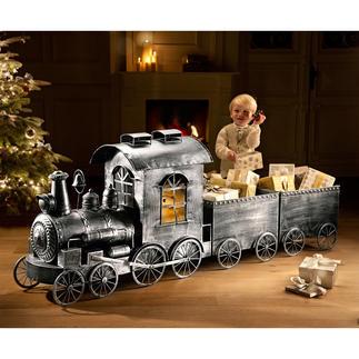 Nostalgie-Zug Aus Aluminium im Antik-Look. Perfekt für Weihnachten, Partys, als Ganzjahres-Dekoration.