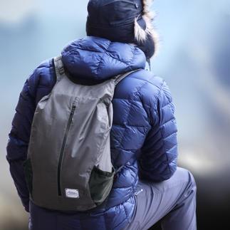Outdoor-Falt-Rucksack Immer dabei: Der wasserdichte Falt-Rucksack im Taschenformat.