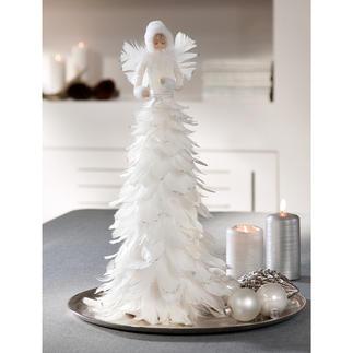 Eisfee Märchenhafte Schönheit: die Eisfee aus schneeweißen Federn. Flaumzart. Romantisch. Effektvoll mit Glitzer betupft.