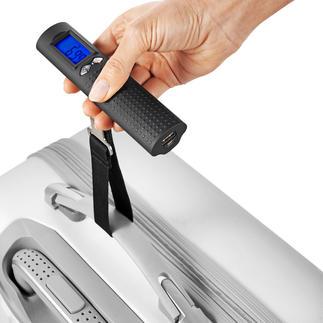 Digitale Akku-Gepäckwaage Digitale Gepäckwaage, Powerbank und Taschenlampe – nur 200 Gramm.