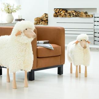 Schafe in Lebensgröße Designobjekt, Sitzplatz, liebenswerter Hausgenosse: die Schafskulpturen in Lebensgröße.