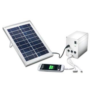 Portables Solar Licht- und Ladesystem Im Urwald, auf dem Meer, beim Campen, ... Ihre mobile Solarstation liefert Strom und Licht.