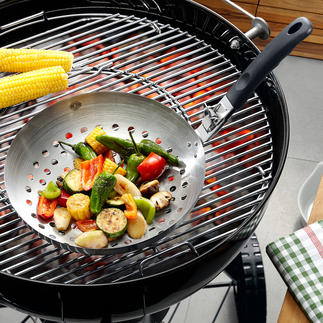 Grill-Wok Köstlich aus dem Grill-Wok: Die leichte Gemüse-Beilage fürs Barbecue. Knackig frisch, mit echten Röstaromen.