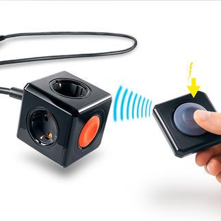 PowerCube mit batterieloser Fernbedienung Fernbedienbar, aber ohne (teure) Batterien. Keine lästigen Batteriewechsel. Und die Umwelt wird geschont.