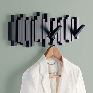 Klaviatur Wandgarderobe Wanddekoration oder Wandgarderobe? Beides. Praktischer Nutzen raffiniert versteckt.