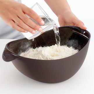 All-in-One-Brotbackform Zum Wiegen, Mischen, Kneten, Gehen und Backen. Frisches, selbstgebackenes Brot – schnell und einfach wie nie.