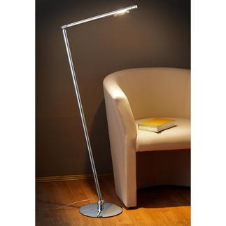Stehleuchte Tubi Perfekt zum Lesen und Arbeiten: Der Leuchtenschaft ist um 360° drehbar und um jeweils 30° nach vorne und hinten neigbar.