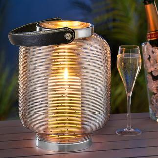Glaslose Lampionlaterne Seltenheit: Die Laterne, die ohne Glas auskommt. Und ohne die Gefahr von Glasbruch.