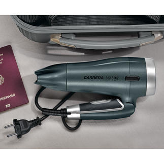 CARRERA Kompakt-Haartrockner No 532 Die Hightech-Funktionen großer Haartrockner. Im federleichten Kompaktformat.