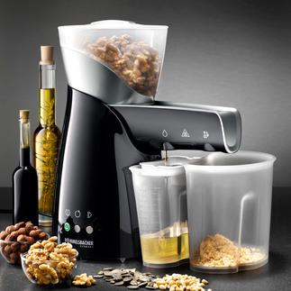 Elektrische Ölpresse Ihr wertvollstes Speiseöl ist hausgemacht. Im schonenden Kaltpress-Verfahren. Aus besten Rohstoffen Ihrer Wahl.