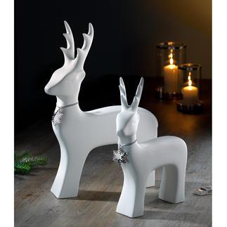 Stilvolles Rentier Klare Linie, pures Weiß: das kunstvoll formreduzierte Rentier aus feiner Keramik.
