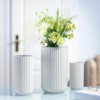 Lyngby Porzellanvase Weiß, schlicht, schön: die Lyngby-Vase der 30er-Jahre – jetzt neu aufgelegt.