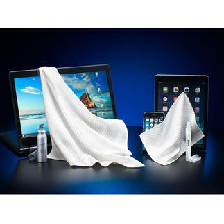 e-cloth® Screen-Reinigerset, 4-teilig Mit einem Wisch spiegelblank. Und hygienisch sauber.