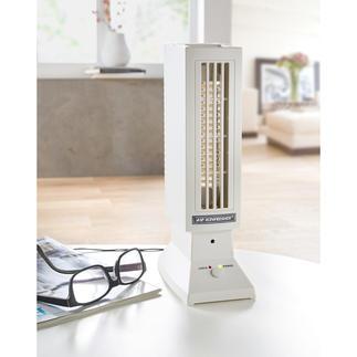 """""""Ionfresher"""" Saubere Luft. Auch in großen Räumen. Völlig lautlos durch elektronische Umwälzung."""