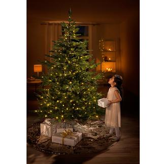 """Dauer-Tannenbaum """"Chalet"""" Der naturgetreue Tannenbaum mit fertigem LED-Lichterschmuck. Üppig grün, mit dichtem Bewuchs – und jedes Jahr wieder schön."""