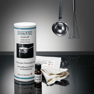 Spray2Go Antihaftversiegelung Herd Küchenherd und Backofenscheibe: blitzblank mit einem Wisch. Antihaftversiegelt durch flüssiges Panzerglas.