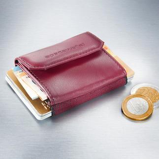 Space Wallet® Mini-Damenbörse Nicht größer als eine Puderdose: Perfekt für die angesagten Mini-Bags, elegante Clutches und Abendtaschen.