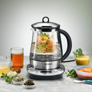 Gastroback 3-in-1-Wasserkocher Advanced Die neue Generation Wasserkocher: Tee-Automat und Wasserbad-Kocher in einem.