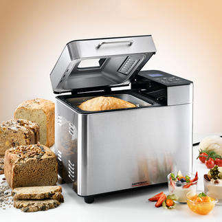 Gastroback Brotbackautomat Advanced Design 18 Programme, 3 Bräunungsgrade, 3 Brotgrößen, automatischer Zutatenspender für Körner, Nüsse, Rosinen, ...