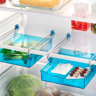 Kühlschrank-Zusatzschublade, 2er-Set Die Zusatzschublade für Ihren Kühlschrank. Schafft mehr Platz und sorgt für Ordnung.