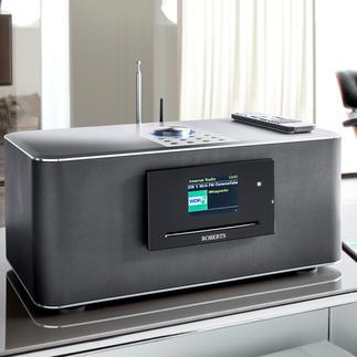 Roberts Multiroom- Musiksystem S300 oder Roberts S1- Multiroom-Lautsprecher Klangstarker Hifi-Sound in allen Räumen. Kabellos. Vom Hoflieferanten des britischen Königshauses, Roberts.
