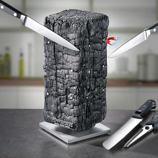 Magnetischer Messerblock Pyrolith Moderne Skulptur? Design-Messerblock? Beides!