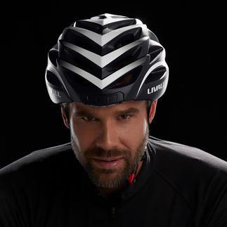 Smart-Fahrradhelm Der Fahrradhelm neuester Generation: Noch sicherer durch Rücklicht, Blinker, Warnlicht und SOS-Funktion.