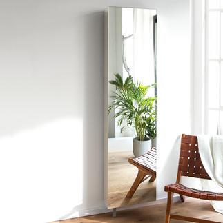 Spiegel-Drehschrank Der ideale Spiegelschrank: Platzsparend. 180° drehbar. Mit viel verborgenem Stauraum.