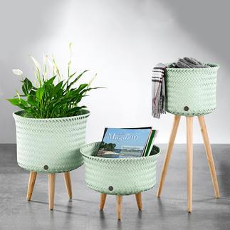 Körbe auf Beinen Für Pflanzen, Lektüre, Accessoires, Plaid, ... Die neuen Körbe haben viele Talente.