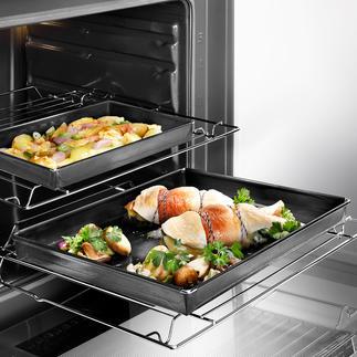 Ofen- und BBQ-Schale Perfekt für Ofen und Grill: Die teflonbeschichtete Fiberglas-Garschale.