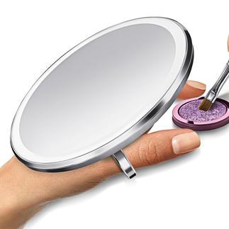 Sensor-Taschenspiegel Der bessere Sensor-Taschenspiegel: Leuchtet heller, gleichmäßiger, farbgenauer – und vergrößert 3fach.