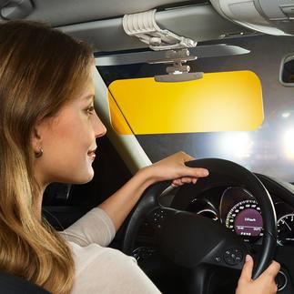 2-in-1 Blendschutz Blendfreie HD-Sicht im Auto. Bei jedem Wetter. Zu jeder Jahreszeit. Bei jedem Licht.