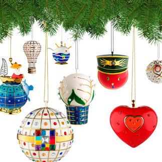 Alessi Dekokugeln Faberjori Kunstvoll handdekorierte Porzellan-Kugeln: Alessis Weihnachtsversion legendären Designs. Immer ein Unikat.