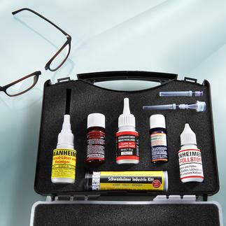 Schwanheimer Kleber-/Reparatur-Set Spezialisten für praktisch alle Reparaturaufgaben und Materialien. Im praktischen Kofferset.