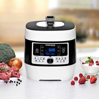 Dampfdruck-/Multikocher MD 1000 Preisgekrönt: das 9-in-1-Multitalent für Ihre Küche.